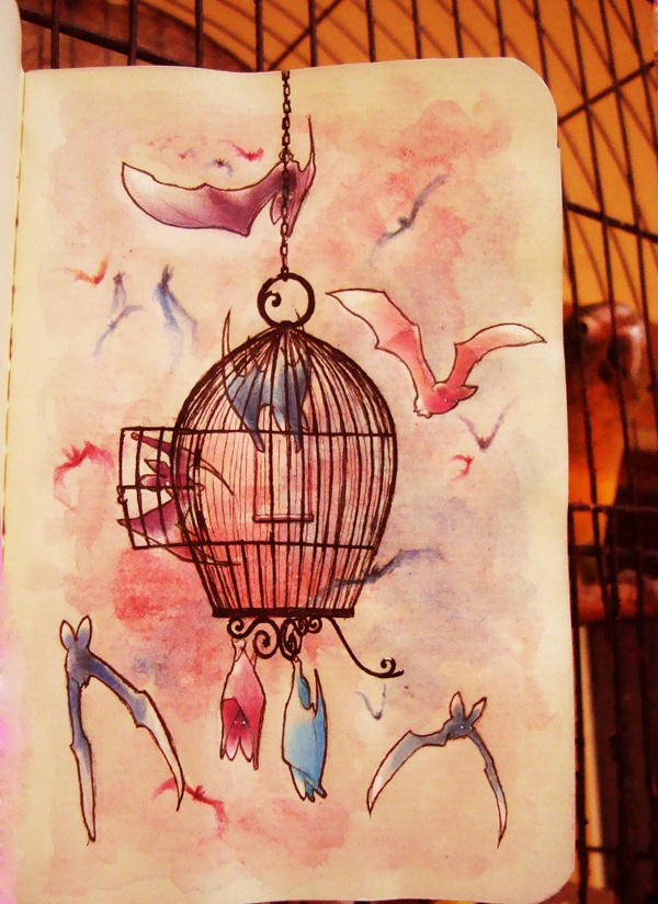 Sketchbook_ideas by Ricardo Lira, via Behance I love bats