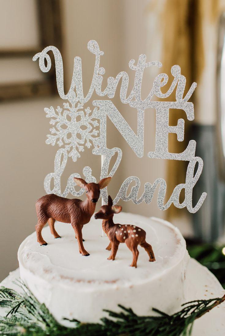 Winter Onederland Birthday Cake