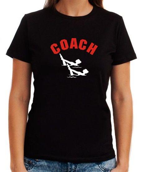 Synchronized Swimming Coach Women T-Shirts