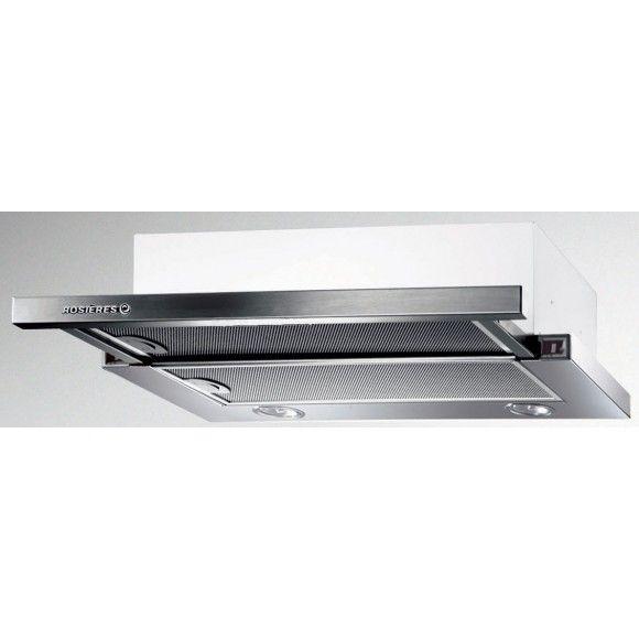 Rosières - RHT6300LIN - Hotte tiroir 3 vitesses Inox - Commande latérales invisibles - Eclairage LED / Hotte tiroir et escamotable RHT 6300 LIN : Villatech