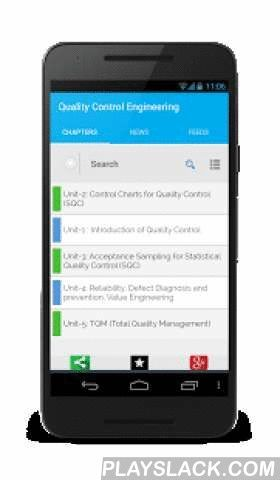Quality Control Engineering  Android App - playslack.com ,  Free handbook on Quality Control Engineering for easy and quick learning. This App is a FREE handbook, which covers all the topics on QC. You can consider this App as a notes which professors guides with in a classroom.You can very easily pass and succeed in your exams or interview if you have this App in your mobile phone, and give an overview for few days. The app is designed to impart quick and faster learning of the subject. It…