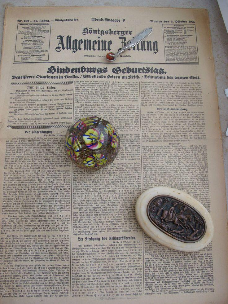 Königsberger Allgemeine Zeitung Ostpreussen Königsberg 1927 Hindenburg Werbung