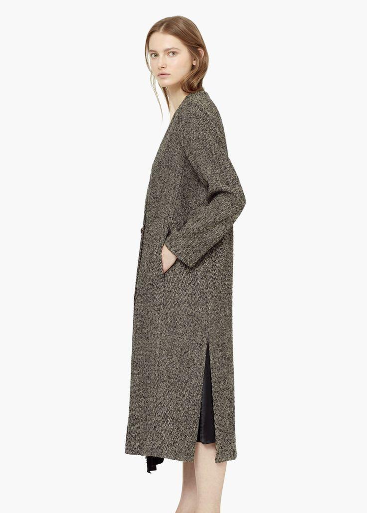 Premium - long wool coat -  Women | MANGO USA