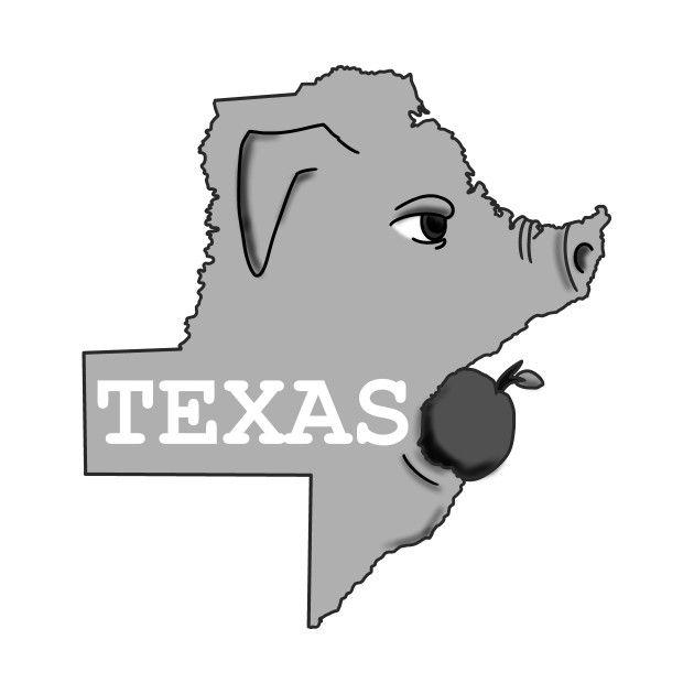 A funny map of Texas. Texas Barbecue.