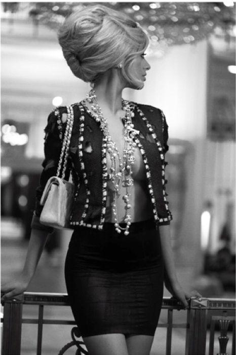 big hair & Chanel