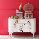 Love all the knobs.....The pretty grey and pink rose, oh so lovely! Bombay Duck