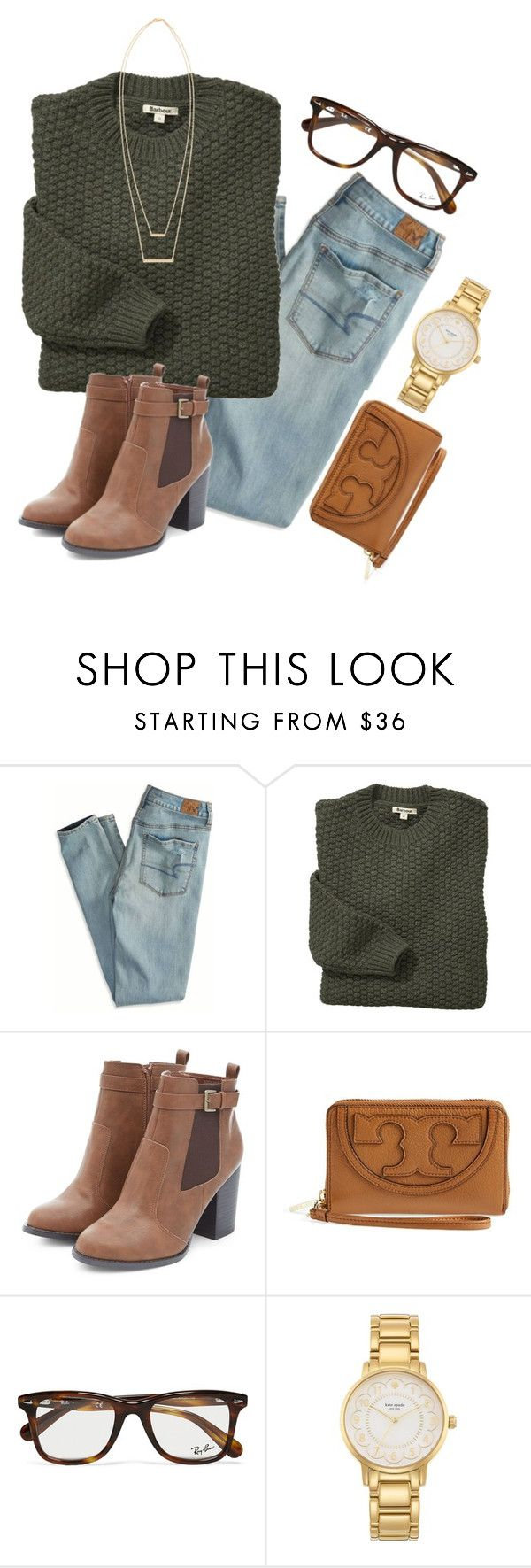 """""""10 from 150!!! """" by madelyn-abigail ❤ liked on Polyvore featuring American Eagle Outfitters, Barbour, Tory Burch, Ray-Ban, Kate Spade, Jennifer Zeuner, women's clothing, women's fashion, women and female"""