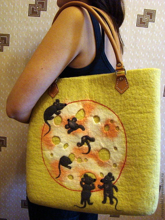 "Handbags handmade.  Fair Masters - handmade bag ""Cheese-Forever"".  Handmade."
