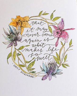 ☼ Emily Dickinson ☼ Emily Dickinson Quote Illustration Print by LaPlumeStudio on Etsy