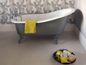 Liverpool :: freistehende Guss-Badewanne in weiß. Form: freistehend, nostalgie. Material: Guss. Maße (LxBxH cm): 156x78x76. Die Gusseisen Badewanne Liverpool weist trotz ihrer kompakten Bauweise ein sehr elegantes...