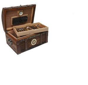 Steampunk Dome humidor 100 Count Dome Humidor: Solid Pine, Reclaimed Wood, Distressed Metals, Metals Hardware, Wood Construction, Wood Finish, Vintage Reclaimed, Pine Wood, Steampunk Domes