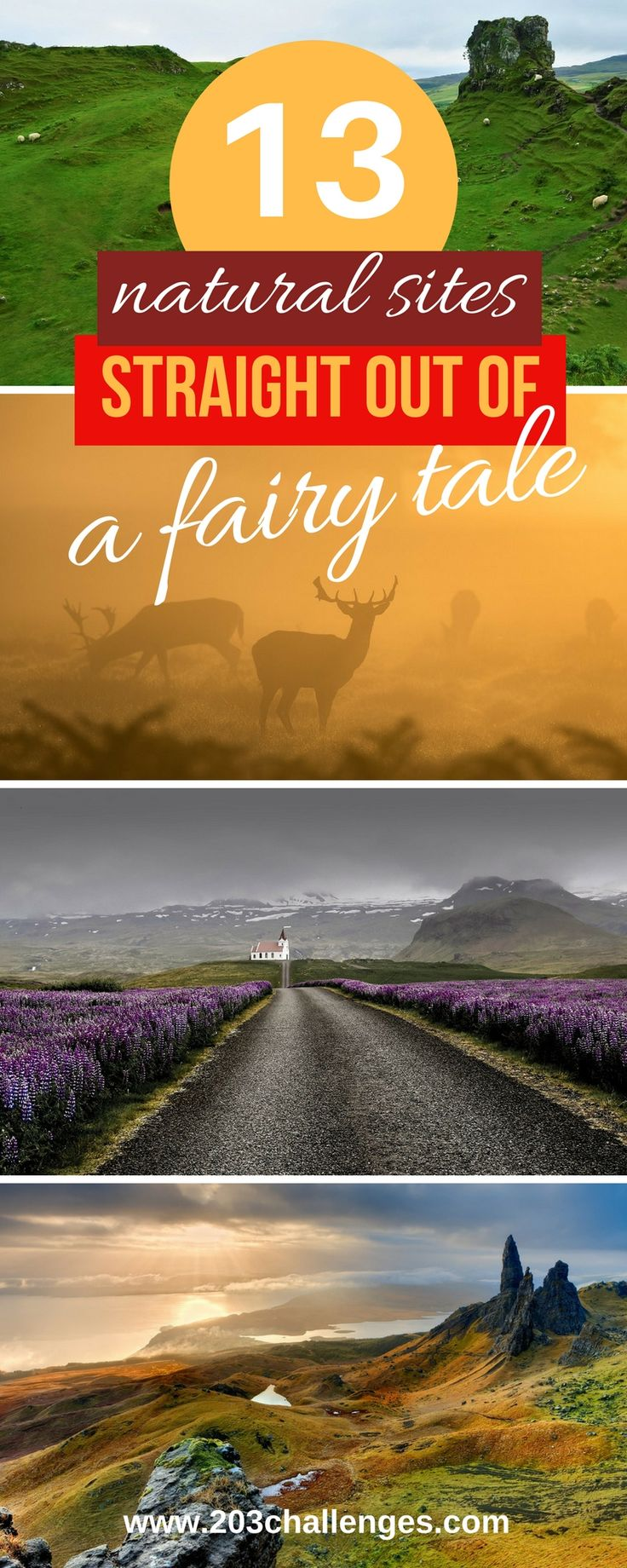 Fairy tales are not only in children's books. Sometimes they can be real places sculpted by nature so as to transfer us to faraway lands of kings, princesses and magic. Here are a few of these magical places as seen from some of the best t