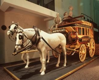 B1269 Horsedrawn omnibus, Sydney Tramway and Omnibus Company, Sydney, NSW, Australia, Vehicles like these conveyed passengers to the Pleasure Grounds.