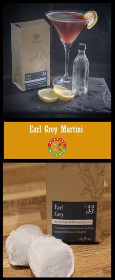 Delicious Earl Grey Martini cocktail using #gin #whittard #earlgrey #teabags