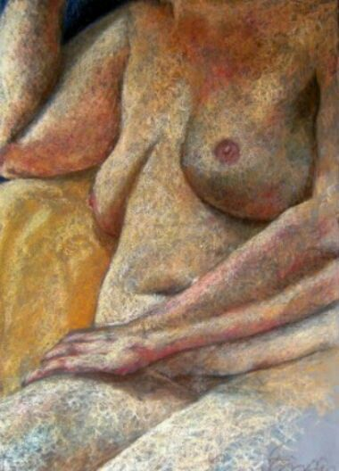 Female, 2008, pastel on paper, Felicity Grabkowski (Flosski Art & Design)