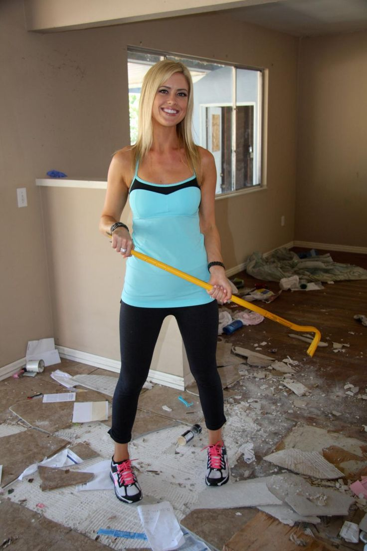 Christina El Moussa, co-host of HGTV's Flip or Flop, gets to work rehabbing a run down, auctioned house.