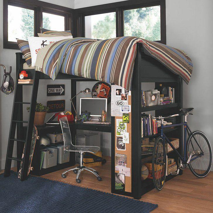 teen loft bed pbteen  teen/bedroom ideas  Pinterest
