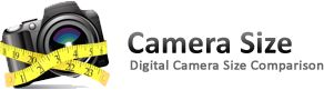 Compare size of digital cameras and lenses