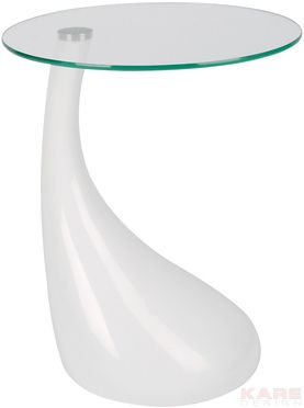 Side Table Tear Drops Fibre White