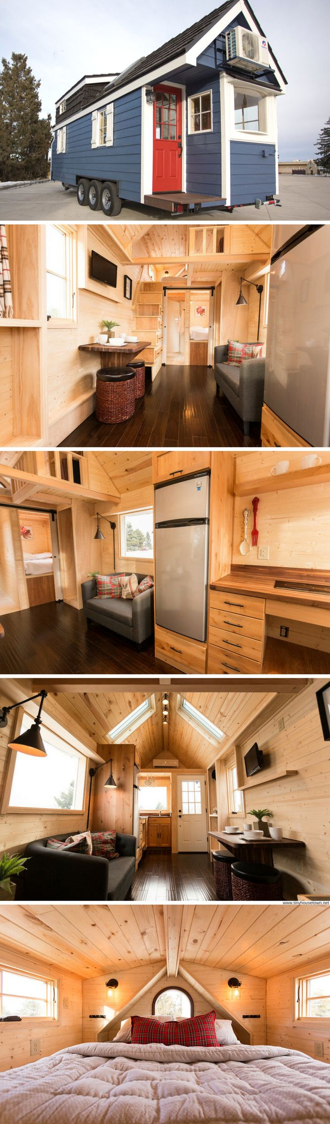 A colorful and beautifully-design 288-sq-ft tiny home available for sale in Colorado!