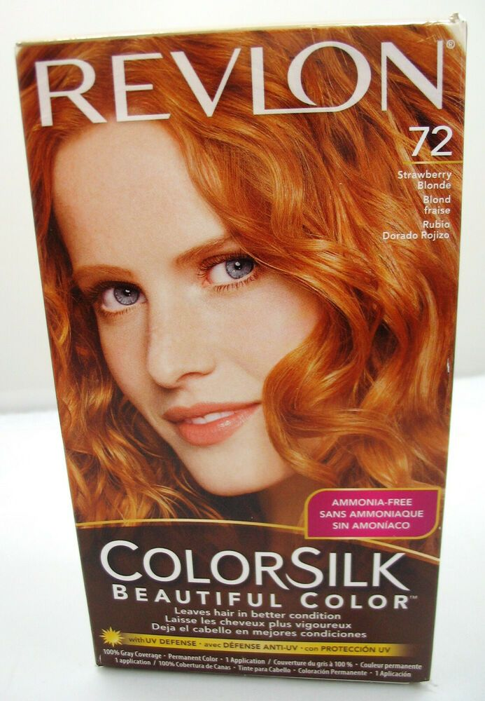 Revlon Colorsilk 72 Strawberry Blonde Permanent Hair Color Dye New