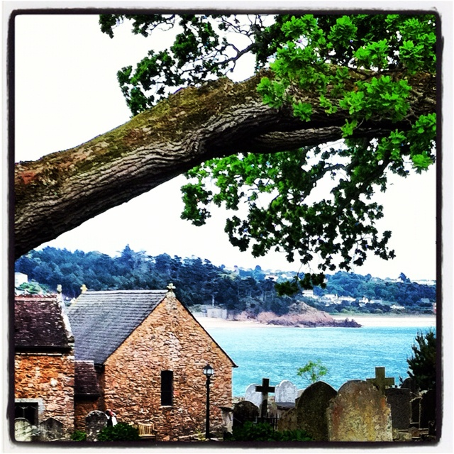 View from St Brelade's Church ~ Jersey Channel Islands