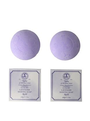 Taylor of Old Bond Street Luxury Lavender Hard Shaving Soap Refill, 2-Pack
