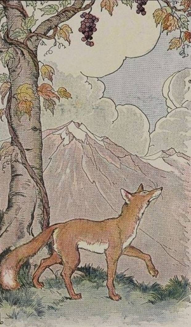 Google Image Result for http://whisperingbooks.com/books/Aesops_Fables/i/Aesops_Fables_Fox_And_Grapes_By_Milo_Winter.jpg