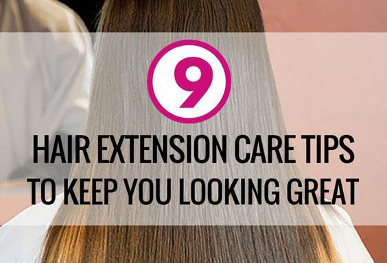 Hair extension care tips for daily use. Never worry about damaging hair extensions again with these great hair extension care tips!