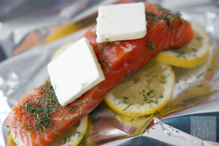 Barbecued Salmon In Foil With Tarragon, Chives & Vermouth Recipes ...