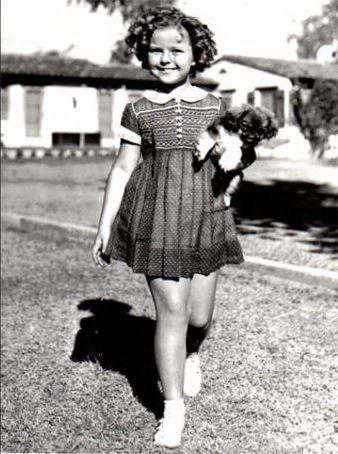 Shirley Temple & pet Peke