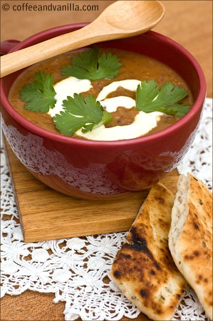 Curried Bean, Carrot & Coriander Soup www.coffeeandvanilla.com