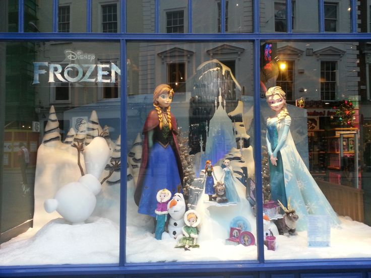 The Frozen display in the Disney shop on Grafton street