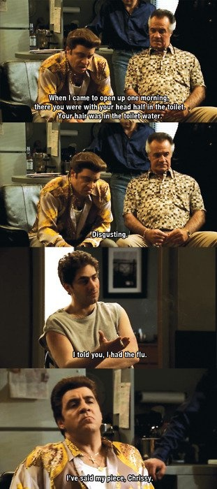 Best scene ever in The Sopranos! LOL!