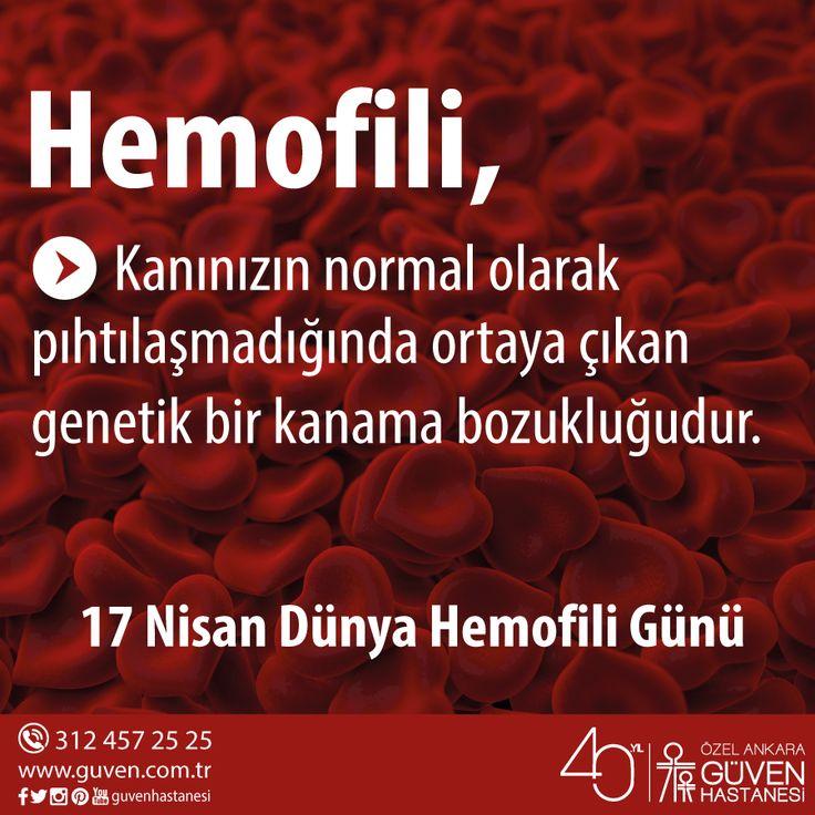 17 Nisan Dünya Hemofili Günü