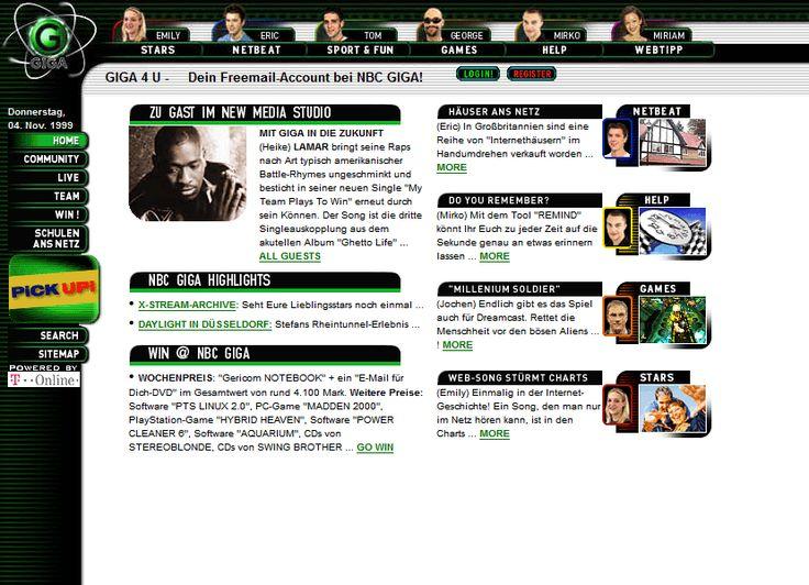 GIGA website in 1999