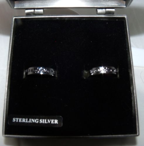 nightmare before christmas sterling silver 925 very rare wedding ring set - Nightmare Before Christmas Wedding Rings