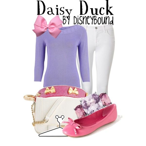 Daisy Duck by leslieakay on Polyvore featuring Minuet Petite, J Brand, Enzo Angiolini, Mix No. 6, Syster P, Blue Nile and Disney