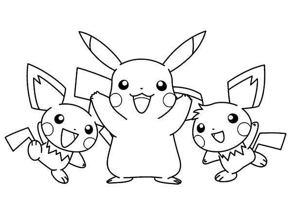 Pichu Coloring Pages Pokemon Malvorlagen Pokemon Ausmalbilder Ausmalbilder