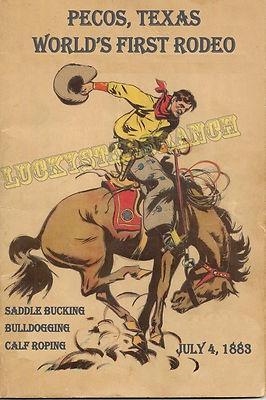 World's First Rodeo, Pecos, Texas