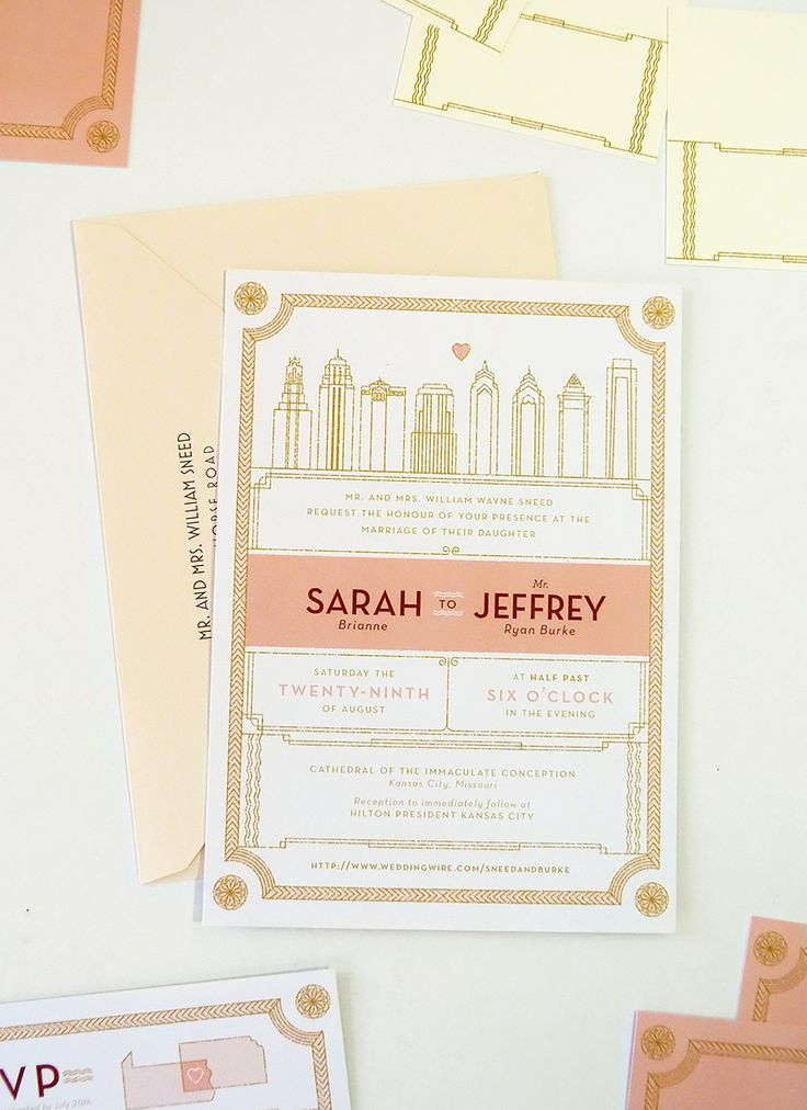 lydia nichols custom wedding invitation by jollyedition
