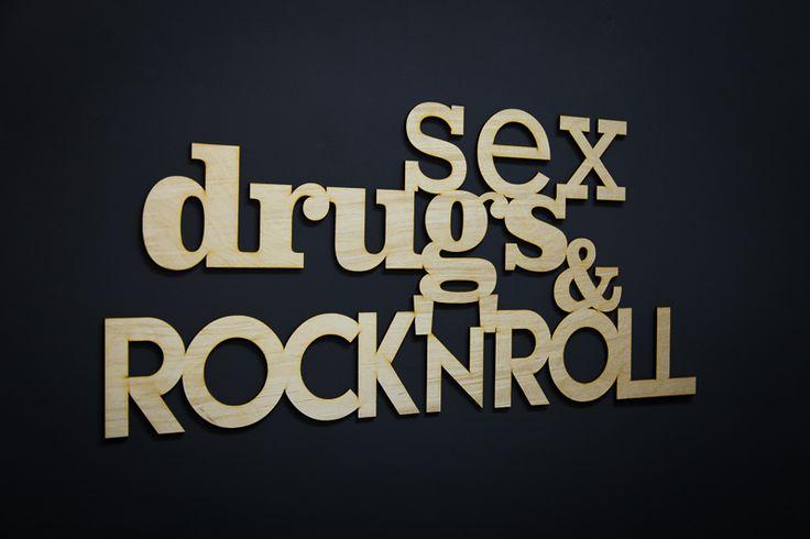 SEX DRUGS & ROCK'n'ROLL! Wyraź swoją rockową duszę napisem na ścianę! Ta dekoracja może być Twoja już za 36zł #dekoracja #napis3D #napis #na #ścianę