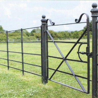 English steel estate fencing, I love this kind of fencing though it holds no practical value in a suburban garden.