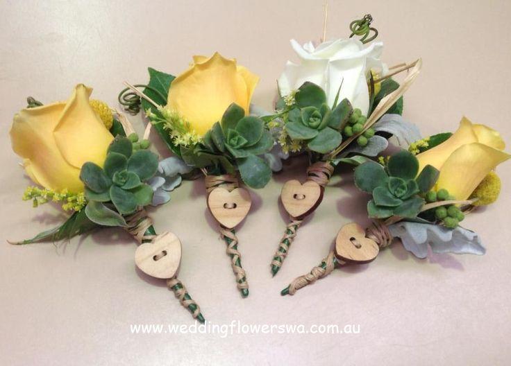 Our gorgeous buttonholes!