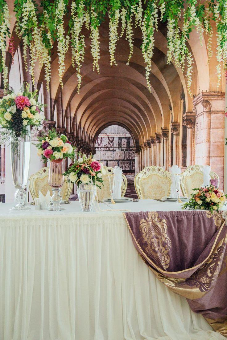 """Оформление стола и задней стены. Свадьба в стиле """"Венецианский карнавал"""". - фото 7123228 Свадебное агентство Ольги Шлык"""