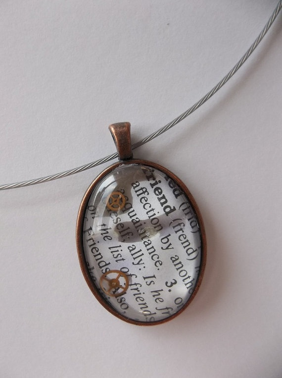 101 best dictionary jewelry images on pinterest glass domes friend dictionary word page pendant necklace by dragonflypoppy 2100 find supplies glass domes aloadofball Image collections