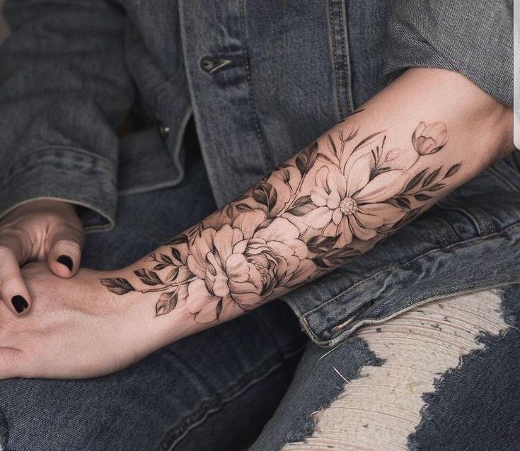 Arm blumen frauen tattoos Tattoos Frauen