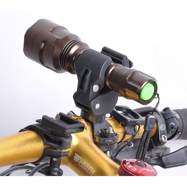 Universal MTB Bici del Camino de Ciclo Titular Estante Faro Lámpara de la Bicicleta Clip Linterna Soporte de La Lámpara Clip de Luz Montado Montaje
