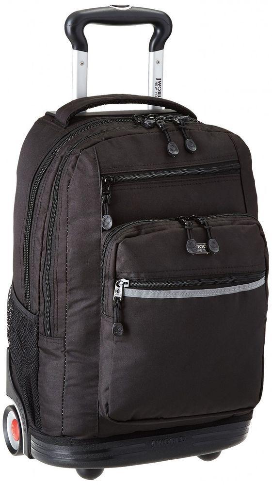 Black Rolling #Backpacks Wheeled Laptop Luggage Collage Book Bag Travel Carry On #JWorldNewYork #Backpack#ShoppingOnlineDeals #DanAnnStore #Buyablepins