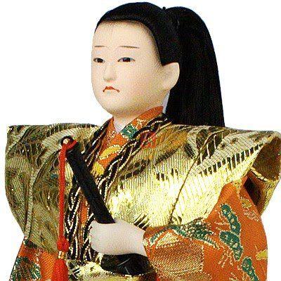 Boneco samurai decorativo